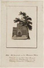 Uitgeknipt en opgeplakt omtrekbeeld van de Agnietenkapel, tevens Athenaeum Illus…