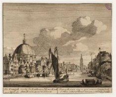 De Cingel verbij de Lutherse Niewe Kerk naar de Jan Roon-poorts Toren