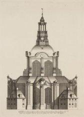 Opstal van een Coepel Kerk op Zey te zien, getekent door Dirk Truer Mr. Metselae…