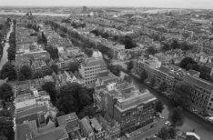 Panorama vanaf de toren Westerkerk in noordelijke richting met op de voorgrond d…