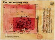 Kaart van kunstbegraving in de grond van de achterzaal van Warmoesstraat 139 te …