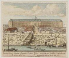 ''t Oost Indisch Zee Magazyn, aan het IJkant op Oostenburg; geboud in het jaar 1…