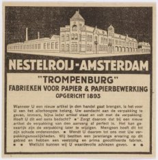 "Amsteldijk 166 hoek Trompenburgstraat. Nestelroy-Amsterdam, ""Trompenburg"", fabri…"