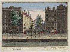 Gezicht van de Oude Waalen-kerk, tot Amsterdam / Vue de la Vieille Eglise Wallon…