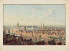 Panorama van Amsterdam. Genomen van den Oude-Kerks-Toren, naar het Westen te zie…