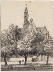 De Westerkerk met het kerkhof