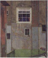 Binnenplaats in de Kalverstraat. Gesigneerd Martin Monnickendam 1914 r.o. (Signe…