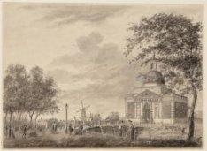 Tweede Muiderpoort gezien vanuit de Plantage, over de Plantage Muidergracht