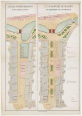 Nieuw ontwerp beursbouw met boulevard van af het Centraalstation