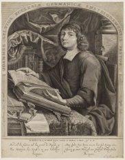 Portret van predikant van de Duitse gemeente Johannes Silvius (1634-1699). Techn…