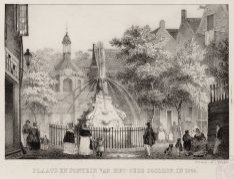 Plaats en Fontein van het Oude Doolhof, in 1845