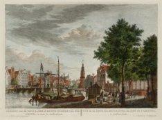 Gezicht van de Reguliers of Munts-Tooren van den Amstel te zien, te Amsterdam