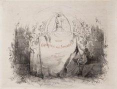 """Gijsbrecht van Aemstel, vijftien illustraties van Vondels """"Gijsbrecht van Aemste…"""