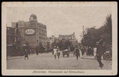 De diamantbeurs op het Weesperplein 4 gezien vanaf de Sarphatistraat. Op de acht…
