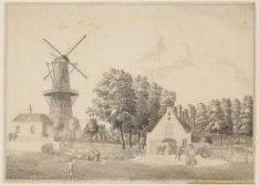 Sarphatistraat en bolwerk het Westerblokhuis gezien vanaf de Hogesluis