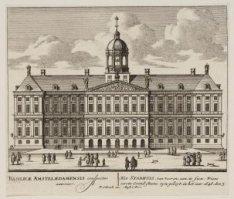 Het Stadhuis, van vooren; aan te sien; Wiens eerste Grond-Steene zyn geleyt, in …