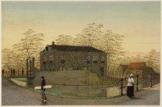 Het Volkspark bij  de Nassaukade ter hoogte van nummer 120, hoek Kuiperspad zijd…