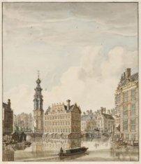 De Amstel met het Schapenplein en de Munttoren