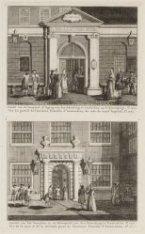 Gezicht van de Voorpoort of Ingang van den Schouburg te Amsterdam op de Kyzersgr…