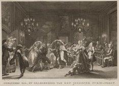 Gemaskerd bal, bij gelegenheid van het Joodsche Purim-feest