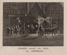 Schandelyk vertrek van Alba, uit Amsterdam