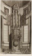 Het Orgel en de Predikstoel in de Lutherse Nieuwe Kerk aan de Singel 11