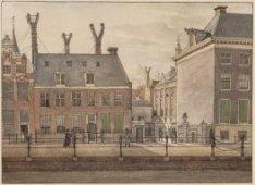 Gezigt van het nieuwgebouwde Hek voor de Toegang van het tegenwoordige Stadhuis …