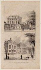 Op de eerste prent, de Portugees Israëlitische Synagoge; op de tweede prent de H…