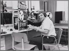 Billy Graham's Evangelisten tijdens een uitzending vanuit de RAI, Europaplein 8
