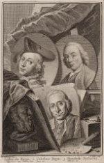 Drievoudig portret van de tekenaars Jacobus Buys (1724-1801)