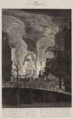Ruïnen van ses Huizen, verbrandt den 25 October 1670, op''t Nieu Eylandt; enz. e…