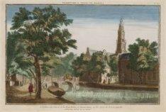 L Eglise du Ouest et la Boucherie, à Amsterdam; à les voir de Keizersgracht
