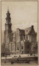 Westerkerk gezien over de Keizersgracht