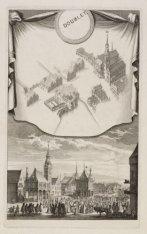 Het oude Stadhuis en de naaste Gebouwen, zo als zy waren in 't jaar 1544