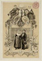 Titelblad van een boekje over het 2e eeuwfeest van het Diaconieweeshuis, Amstel …