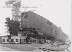 Bouwstadium van de tanker ss. Tarim