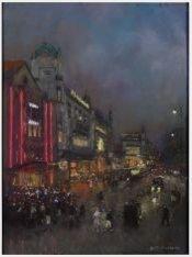 Een avondgezicht van het Rembrandtplein gezien in oostelijke richting vanaf de R…