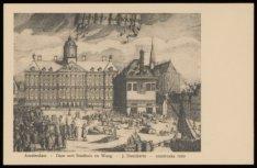 Dam met Stadhuis en Waag, J. Danckerts, omstreeks 1680. Uitgave Gebrs. van Rijko…