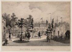 Natura Artis Magistra, Plantage Kerklaan 40. Op de achtergrond enkele schepen in…