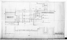 Ontwerptekeningen met aanzichten, plattegronden, doorsneden en silhouet; nr. 11