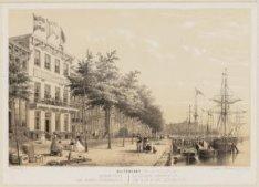 Buitenkant, gebouw Zeemanshoop, later Prins Hendrikkade 142 gezien in westelijke…