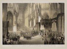 Inhuldiging van Z.M. Koning Willem III in de Nieuwe Kerk, te Amsterdam, 13 Mei 1…
