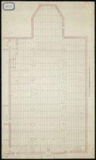 Plattegrond van de Oude Waalse Kerk, Oudezijds Achterburgwal 159, met ingetekend…
