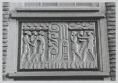 Figuratieve voorstelling in de gevel van het Scheepvaarthuis