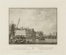 De Binnen Amstel bij de Heerengracht en de Blaauw-brug
