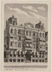 Bible Hotel, Damrak; gebouwd Anno 1883, Beursstraat 49-51, gevel aan de Damrak-z…