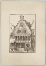 Gebouw in het Oud-Hollands stadje op de Wereldtentoonstelling van het Hotel- en …