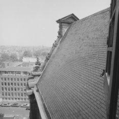 Westermarkt 16, een studentenflat gezien vanaf de Westerkerk, Prinsengracht 279