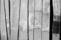 Martelaarsgracht 8 (of 10), verzameling houten delen met een beschildering van e…