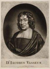Portret van Jacobus Vasseur (1652-1686), predikant sinds 1682. Techniek: mezzoti…